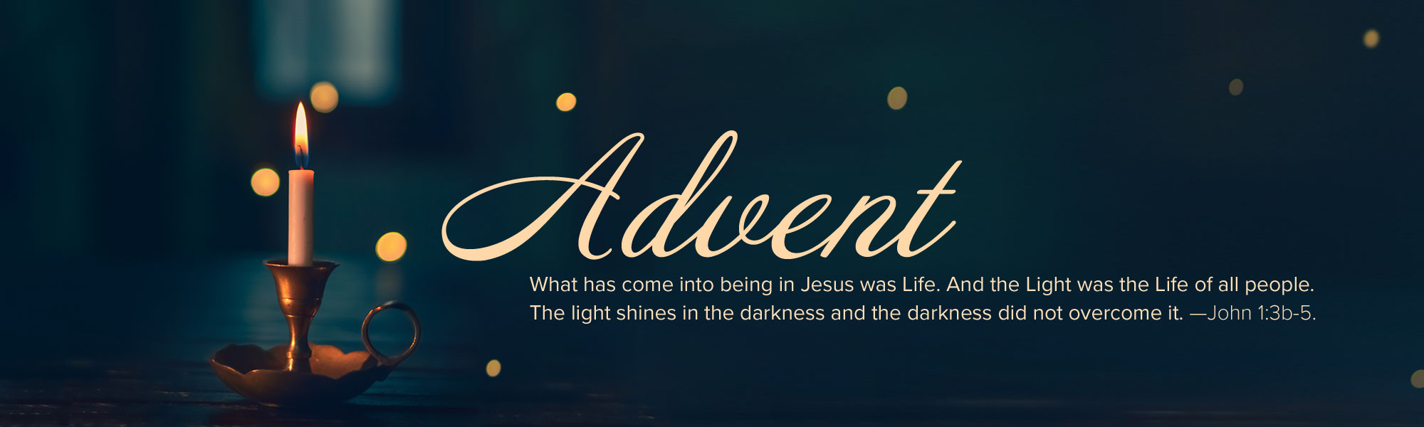 Sisters of the Holy Cross, advent Reflection 2019, Candle in the darkness