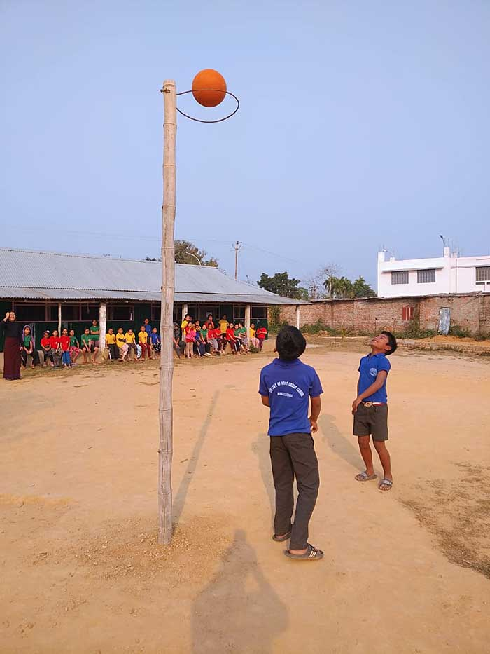An anonymous donor has stepped forward to fund a new basketball court at Holy Cross School in Barakathal, India. Headmistress Sister Khochem Mossang, CSC, knows well the value of sports to a child's holistic development.