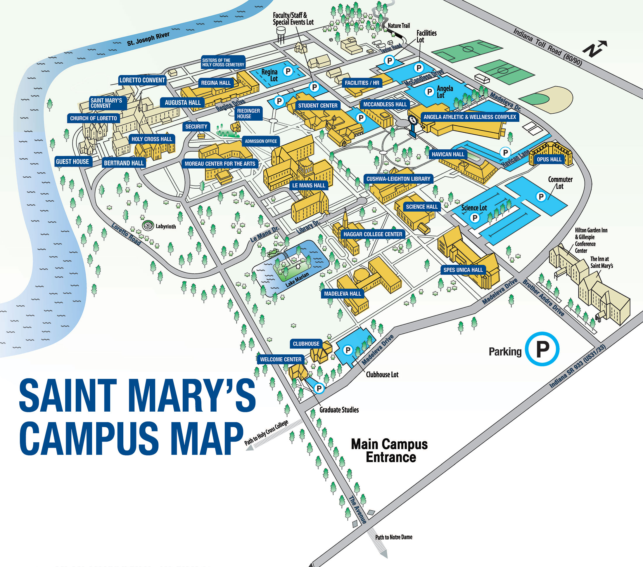 Saint Mary's Campus boundary map