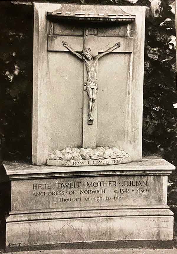 Blessed Julian of Norwich gravestone is located in England.