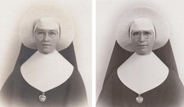 LEFT: Sister M. Olivette (Whelan), CSC, RIGHT: Sister M. Caecilius (Roth), CSC