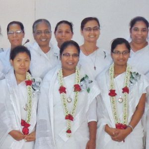 Surrounded with the love and support of fellow Sisters of the Holy Cross, Sisters Tina Moury Ritchil, Kripa Maria Baroi and Royne Josephine Costa (pictured left to right wearing flower garlands) pronounced perpetual vows on June 1 at Holy Rosary Church in Tejgaon, Dhaka, Bangladesh.
