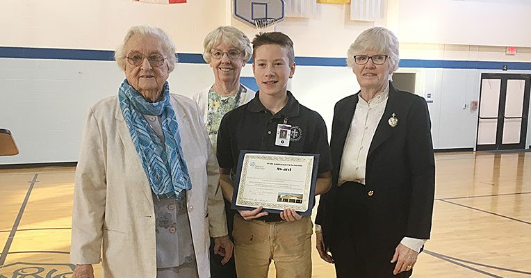 Christ the King School winner Luke Kaufhold wrote an essay for his project.