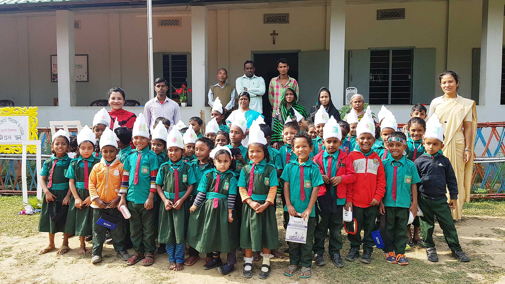 Holy Cross School, Kularua, Bangladesh, students and teachers