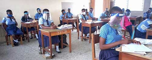Students at Our Lady of Holy Cross School in Kasoa, Ghana, composed stories about their experiences of COVID-19.