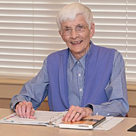 Pictured is Sister Frances B. O'Connor, CSC.