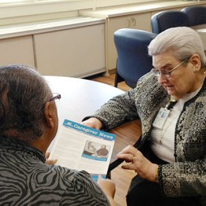 FRuits of Holy Cross: Virtual Journey, Sister Kathleen iat Holy Cross Adult Day Center in Maryland