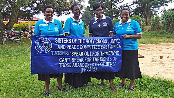 Pictured from left to right are Sisters Jacinta Mueni Munyao, CSC, Martha Nambi, CSC, Grace Kitinisa, CSC and Semerita Mbambu, CSC.