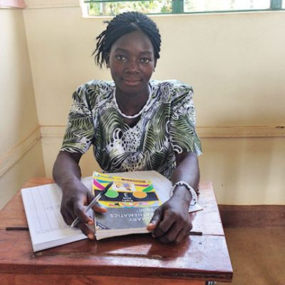 Madeline Louis, a graduate of Solidarity with South Sudan's teacher training college