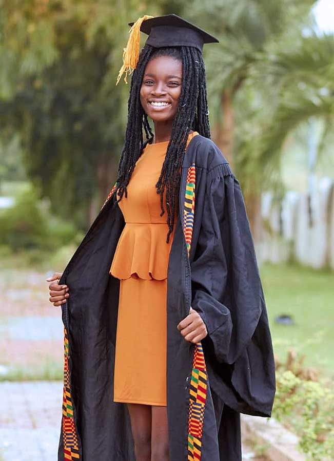 Gloria Larbi is a graduate of Our Lady of Holy Cross School in Kasoa, Ghana.