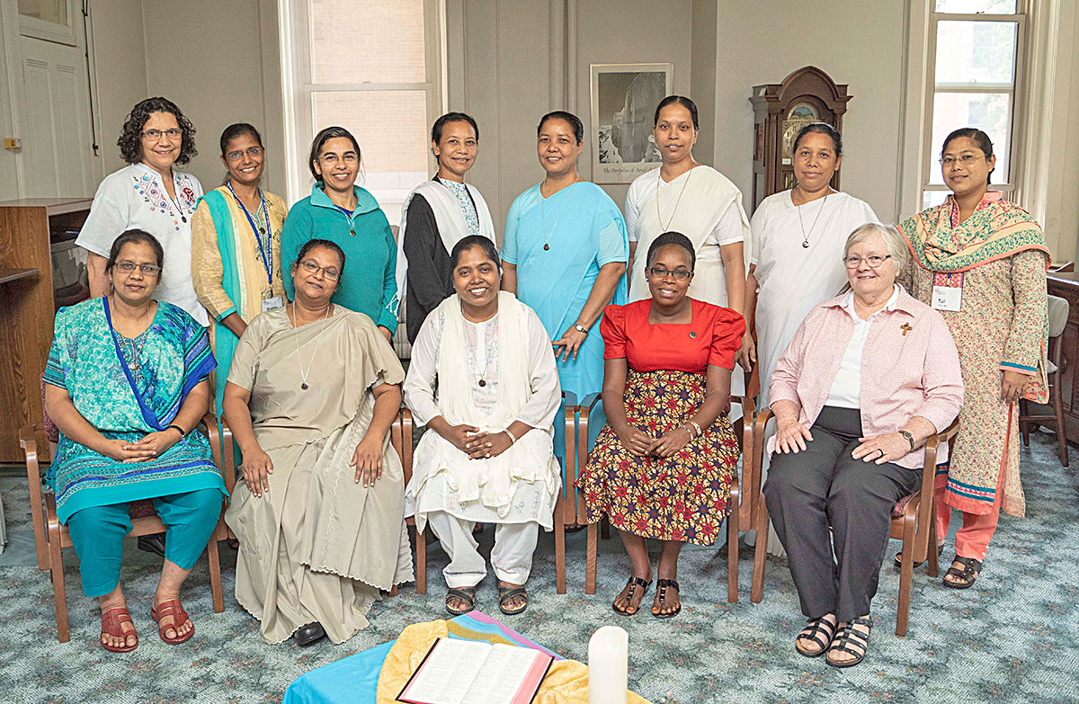 Sisters from Uganda, Bangladesh and Brazil participated in the Tertian Program from July 23 through September 1. Photo credit: Hugo Garza
