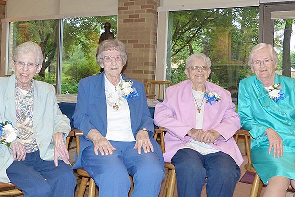 Sisters M. Louisita (Welsh), Maureen Cahill, Sara Joan Van Osdol and Mary Elizabeth Loughran