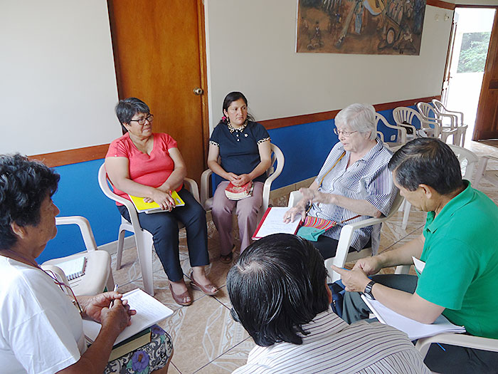 Fruits of Holy Cross, small group biblical reading group in Peru