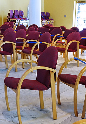 Chairs in the Church of Our Lady of Loretto