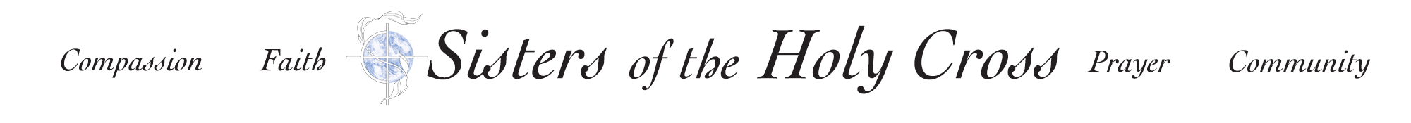 Sisters of the Holy Cross logo and common values