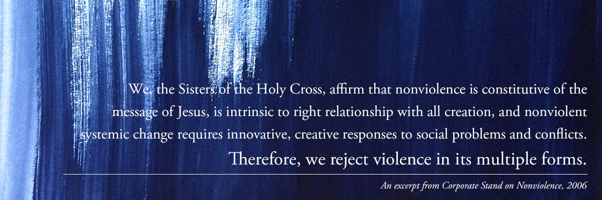 Sisters of the Holy Cross, Statement against violence in Nicaragua
