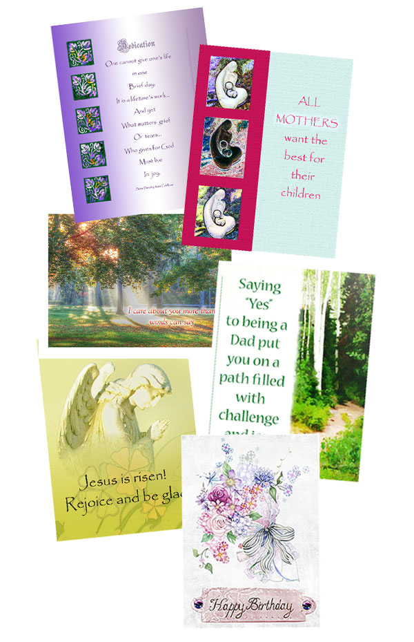 Small selection of available Remembrance Gift Cards