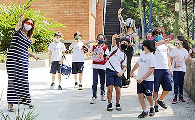 The campus of Colégio Santa Maria in São Paulo, Brazil, rang with joy and laughter when students temporarily returned in October.