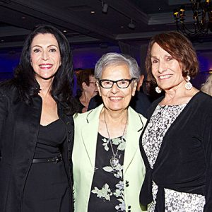 Holy Cross Sister Joan Carusillo, center, enjoyed celebrating with her cousin Frances D'Almeida, left, and her sister, Frances Haley, during the Women's Circle Gala, where Sister Joan was honored for her more than 60 years of ministry with the Congregation.