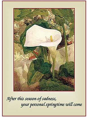 2021 Sisters of the Holy Cross Remembrance card, Calla Lilly