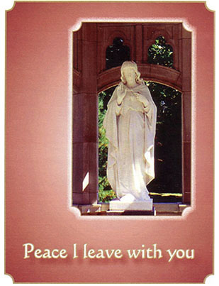 2021 Sisters of the Holy Cross Remembrance card, Sacred Heart