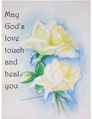2021 Sisters of the Holy Cross Remembrance card, Get Well