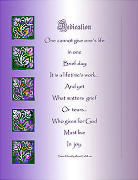 2021 Sisters of the Holy Cross Remembrance card, Jubilee