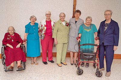 Sisters Mary Ellen McGlynn, Ellen Mary (Taylor), Karen Anne Jackson and Linda Bellemore, Joy O'Grady, and Sisters M. Elena (Malits) and Florence Mary (May).