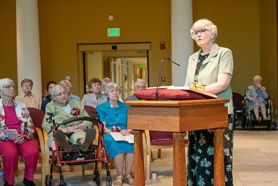 Sister Helene Sharp shared the Reflection After the Word during the jubilee Mass at Saint Mary's.