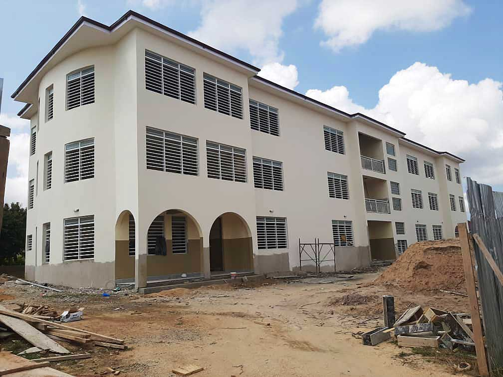 The newly constructed dormitories will provide safe housing for 300 students at OLHCS.
