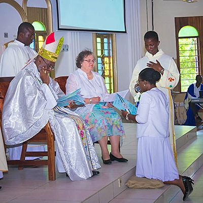 Sister Callista Tetteh, CSC, made her perpetual profession in Ghana.