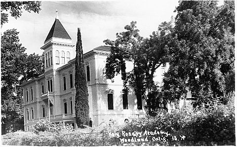 Founded by Holy Rosary Parish, Woodland, California, Holy Rosary School was staffed by Sisters of the Holy Cross from 1886 to 1977.