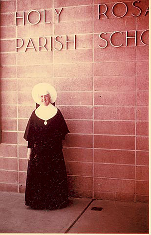 A Sister of the Holy Cross at Holy Rosary School.