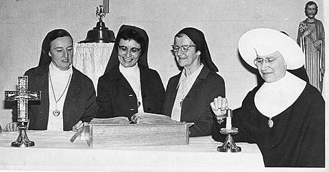 Holy Cross sisters celebrate their 91 years of educating minds and hearts at Holy Rosary School, Woodland, California.