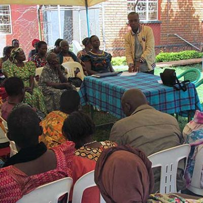 Widows and widowers attended a workshop